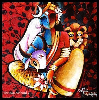 Confluence - Ardhanareshwar Print by Sonali Mohanty