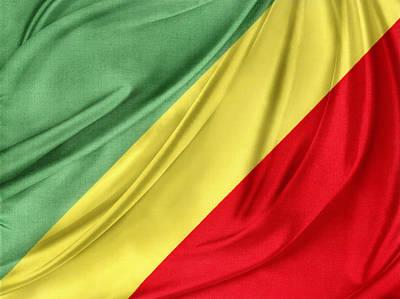 Congo Photograph - Congo Flag by Les Cunliffe