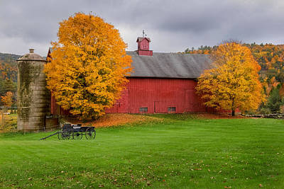 Farming Photograph - Connecticut Autumn by Bill Wakeley