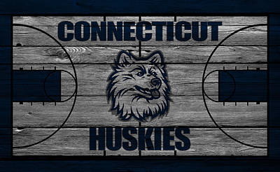 Husky Photograph - Connecticut Huskies by Joe Hamilton