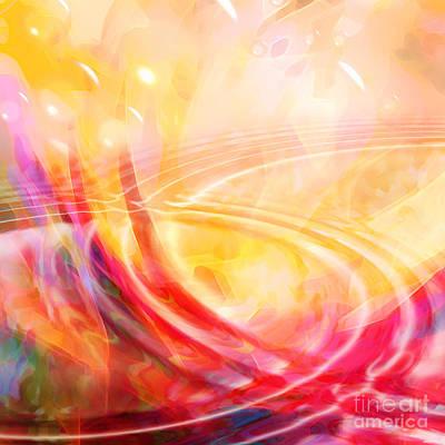 Zen Digital Art - Connecting by Lutz Baar
