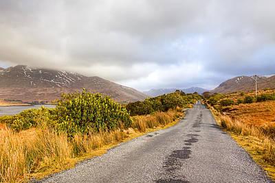 Mountains Photograph - Connemara Roads - Irish Landscape by Mark Tisdale