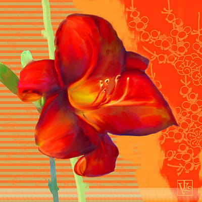 Consider The Lily Print by Valerie Drake Lesiak
