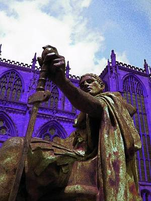 Constantine The Emperor At Yorkminster Print by ARTography by Pamela Smale Williams