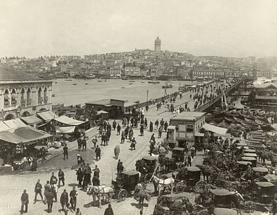 Constantinople Bridge Print by Granger