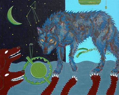 Constellations Painting - Constellation 13th_the Wolf by Yemi Kim