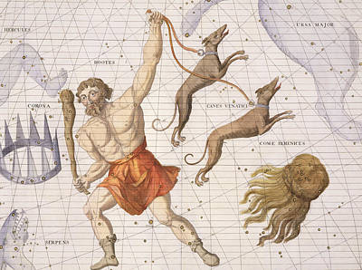 Constellation Of Bootes Print by Sir James Thornhill