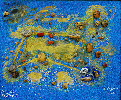 Constellation Mixed Media - Constellation Of Leo by Augusta Stylianou
