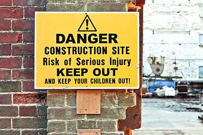 Construction Site Print by Tom Gowanlock