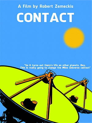Movie Digital Art - Contact Minimalist Movie Poster by Celestial Images
