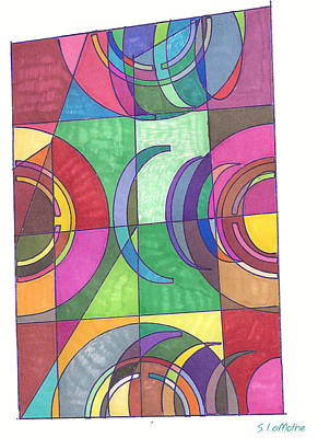 Abstract Shapes Drawing - Containment by Sara LaMothe