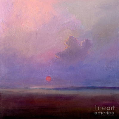 Oil For Sale Painting - Contemplation At Sunset by Svetlana Novikova