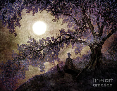Fantasy Tree Art Digital Art - Contemplation Beneath The Boughs by Laura Iverson