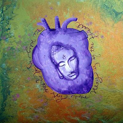Contemporary Original Marbled Green Fluid Acrylic 4th Heart Chakra Balancing Painting Print by Holly Anderson