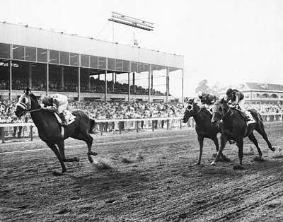 Continuous Count Vintage Horse Racing Print by Retro Images Archive