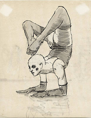 Contortionist Print by H James Hoff
