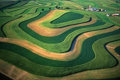 Contour Farm Art Aerial  Print by Blair Seitz