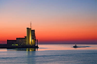 Control Tower On Sea Print by Mikel Martinez de Osaba