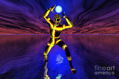 Individuality Digital Art - Controlling Power And Energy by Mark Stevenson