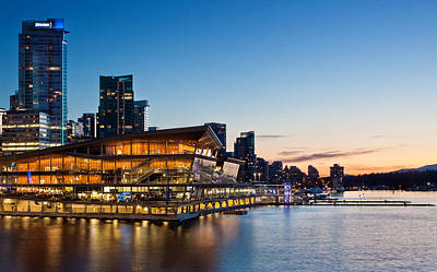 Convention Centre Sunset Print by Alexis Birkill