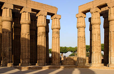 Abacus Photograph - Converging Karnak Temple Columns by Linda Phelps