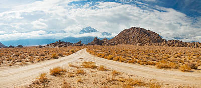 Converging Photograph - Converging Roads, Alabama Hills, Owens by Panoramic Images