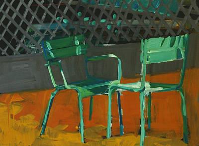 2 Faces Painting - Conversation by Daniel Clarke