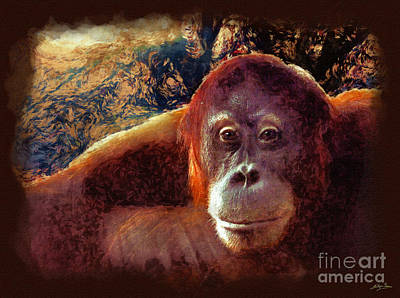 Orangutan Mixed Media - Conversations With An Orangutan by Skye Ryan-Evans