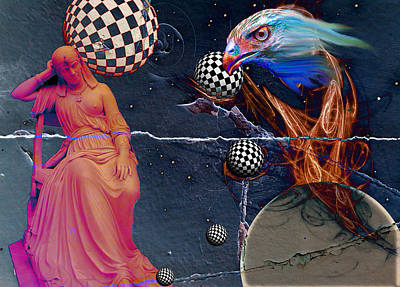 Conversations With Cassiopeia Print by Vito Valenti