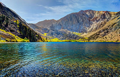 Mammoth Photograph - Convict Lake Fall Color by Mike Ronnebeck
