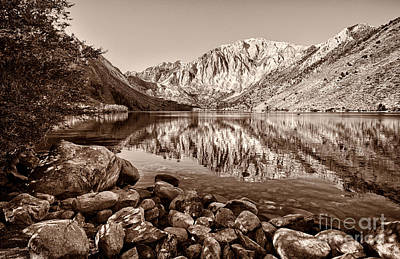 Convict Lake In Sepia Tone Print by Mimi Ditchie