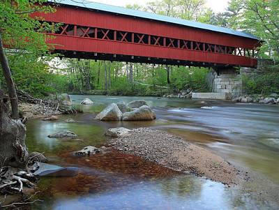 North Conway Photograph - Conway Covered Bridge by Andrea Galiffi