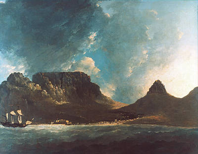 Resolution Painting - Cook Table Bay, 1772 by Granger