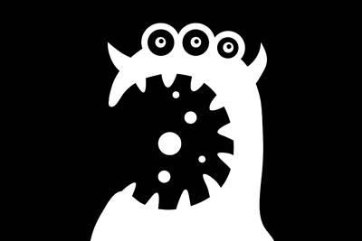 Halloween Digital Art - Cookie Monster by Chastity Hoff