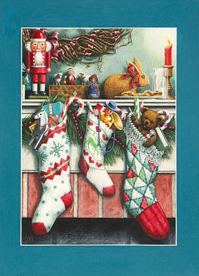 Cookies For Santa Print by Lynn Bywaters
