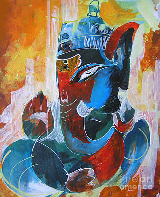 Cool And Graphical Lord Ganesha Print by Chintaman Rudra