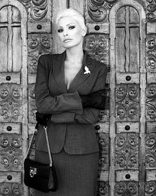 Kim Novak Photograph - Cool Blonde Bw Palm Springs by William Dey