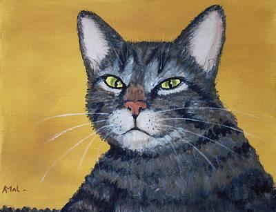 Malakhova Drawing - Cool Cat by Anastasiya Malakhova