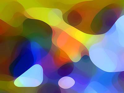 Abstract Forms Digital Art - Cool Dappled Light by Amy Vangsgard