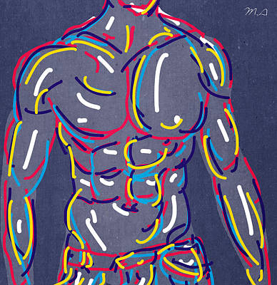 Homoerotic Painting - Cool Guy  by Mark Ashkenazi