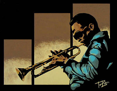 Trumpet Painting - Cool Miles by Tory Bass