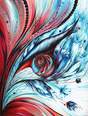 Bluejay Drawing - Cool Synergy by Andrea Carroll