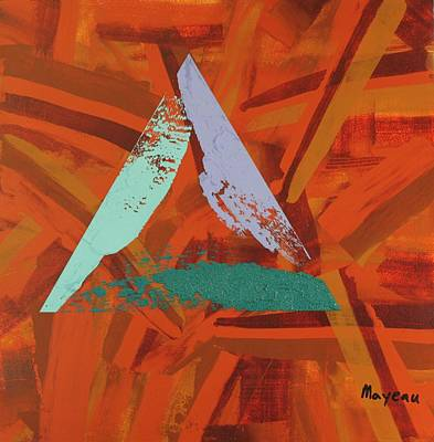 Separation Painting - Cool Triad by David Mayeau