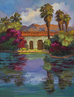 Bougainvillea Painting - Cool Waters 2 by Diane McClary
