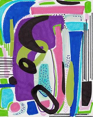 Abstract Art Mixed Media - Coolness by Rosalina Bojadschijew