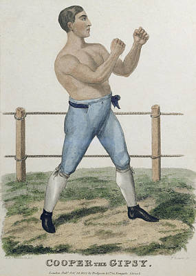 Boxer Drawing - Cooper The Gipsy, Engraved By P by Isaac Robert Cruikshank