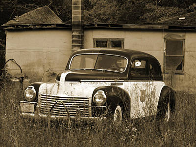 Old Police Cruiser Photograph - Cop Cruiser by David T Wilkinson