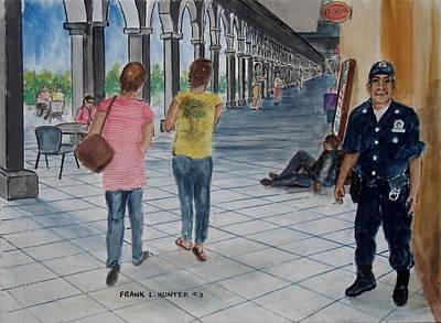 Cop In Colima Mexico Original by Frank Hunter
