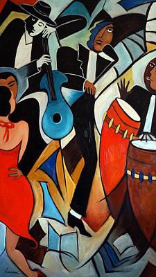 Congas Painting - Copacabana by Valerie Vescovi