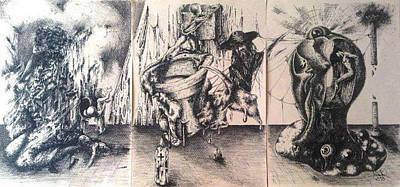 Drawing - Copil Inlaturand Putrescenta Socio-politica by Robert Art